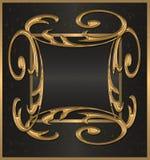 czarny sztandaru złoto Obrazy Stock