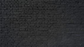 czarny tła ściana z cegieł Obrazy Stock