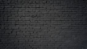 czarny tła ściana z cegieł Fotografia Stock