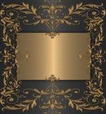 czarny tła złoto Zdjęcia Stock