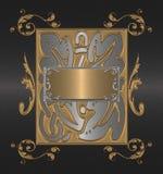 czarny tła złoto Obrazy Stock