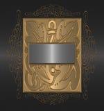 czarny tła złoto Obraz Royalty Free