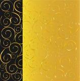 czarny tła złoto Fotografia Royalty Free