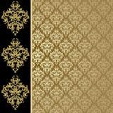 czarny tła złoto royalty ilustracja