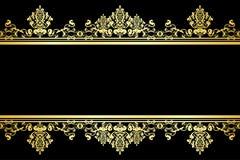 czarny tła złoto ilustracja wektor