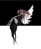 czarny tło czarodziejka ilustracji