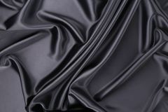 czarny tło jedwab struktura Zdjęcia Royalty Free
