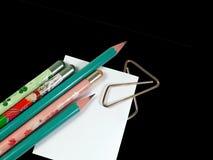 czarny tło ołówki obrazy stock