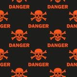Czarny tło ostrzega śmiertelny niebezpieczeństwo Obraz Royalty Free