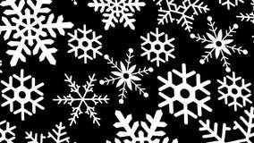 czarny tło płatek śniegu ilustracja wektor