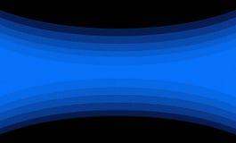 Czarny tło z błękit spiralą w liniach Zdjęcie Stock