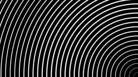 Czarny tło z ruszać się geometrycznego round biel kształtuje ilustracji