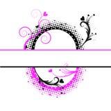 czarny tła copyspace kropkuje pinl Obrazy Royalty Free