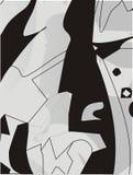 czarny tło biel Zdjęcie Stock