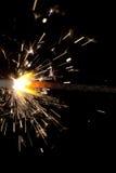czarny tła sparkler Zdjęcia Stock