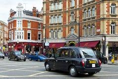 czarny taksówki London Fotografia Royalty Free