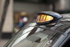 czarny taksówki London znak Fotografia Stock