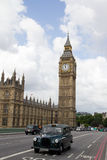 czarny taksówki London Zdjęcia Stock