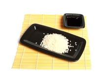 czarny talerza ryż Obraz Royalty Free