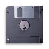 czarny talerzowego floppy odosobniony biel obraz royalty free