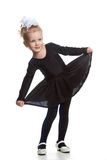 czarny tana sukni dziewczyna Zdjęcie Royalty Free