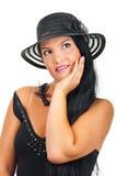 czarny target728_0_ elegancka kobieta Obrazy Stock