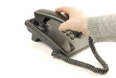 czarny telefon Obraz Stock