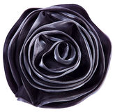 Czarny tkanina kwiat wzrastał Zdjęcie Stock