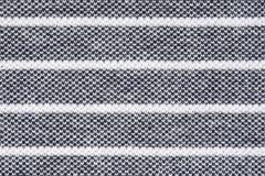 czarny tkanina paskujący tekstury biel Obraz Stock
