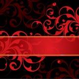 czarny tło czerwień Zdjęcia Royalty Free