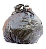 czarny torba śmieci Zdjęcie Stock