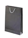 Czarny torba na zakupy Fotografia Stock