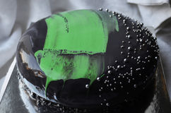 Czarny tort Fotografia Stock