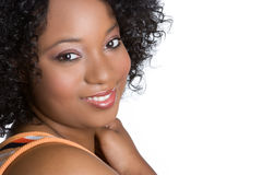 czarny uśmiechnięta kobieta zdjęcie royalty free