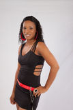 czarny uśmiechnięta kobieta Fotografia Stock