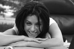 czarny uśmiechu white Zdjęcie Royalty Free