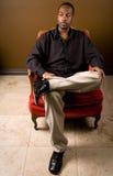 czarny ufny mężczyzna Zdjęcie Royalty Free