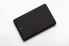 Czarny USB 3 (0) Zewnętrznie Ciężkiej przejażdżki skrzynek 2 5 cali na bielu fotografia royalty free