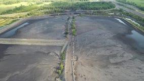Czarny węgiel pyta, eliminacja żniwo czerń węgla widoku z lotu ptaka coalmining zbiory