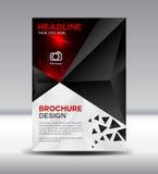 Czarny Wektorowy broszurki ulotki ulotki i magazynu projekt na polyg Obrazy Stock
