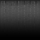 czarny white Algorytmu Binarny kod z cyframi na tle Zdjęcie Stock