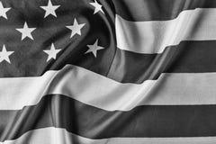 czarny white USA, flaga, tło z bliska pojęcie patriotyzm, dzień niepodległości fotografia royalty free