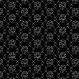 czarny white wzoru Obrazy Royalty Free