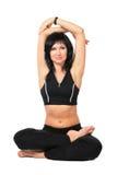 czarny ćwiczenie robi sport kobiety Fotografia Stock