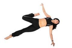 czarny ćwiczenie robi sport kobiety Zdjęcia Stock