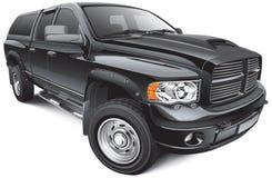 Czarny wielki pickup Obrazy Royalty Free