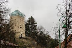 Czarny wierza w Brasov, Rumunia Obrazy Stock