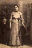 czarny wizerunku portreta rocznika biel Fotografia Royalty Free