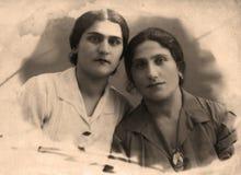 czarny wizerunku portreta rocznika biel obraz stock