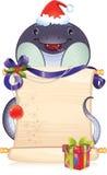Czarny wodny wąż - symbol Chiński horoskop fo ilustracji
